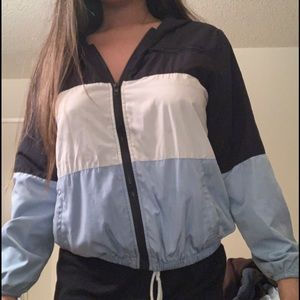 Blue/white tricolored brandy Melville jacket